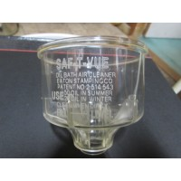CLINTON AND OTHERS CLEAR PLASTIC SAF-T-VUE AIR CLEANER BOWL, PART # 2-219.